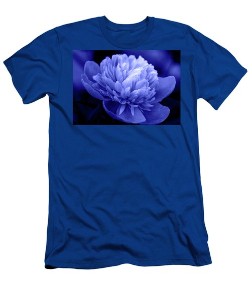 Blue Peony Men's T-Shirt (Athletic Fit)