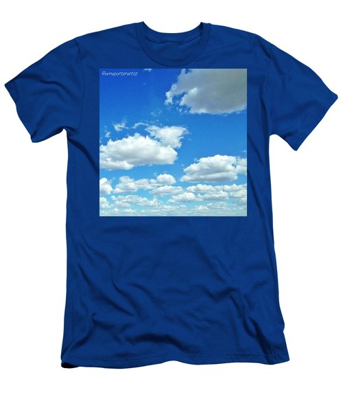 Blue Sky And White Clouds Men's T-Shirt (Athletic Fit)