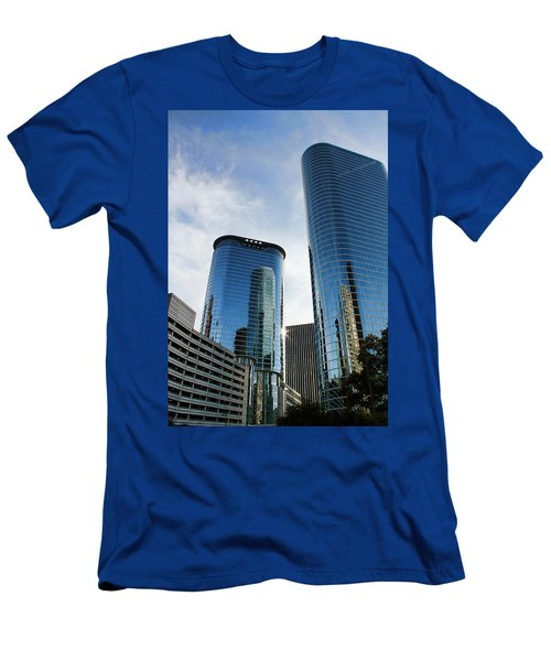 Blue Skyscrapers Men's T-Shirt (Athletic Fit)