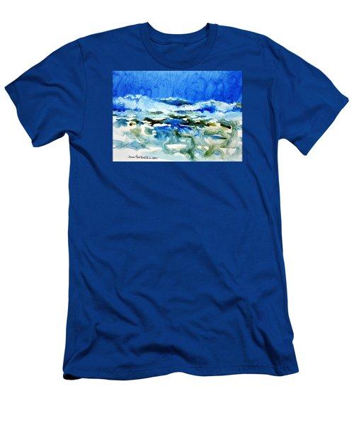 Blue Surf Men's T-Shirt (Slim Fit) by Joan Hartenstein