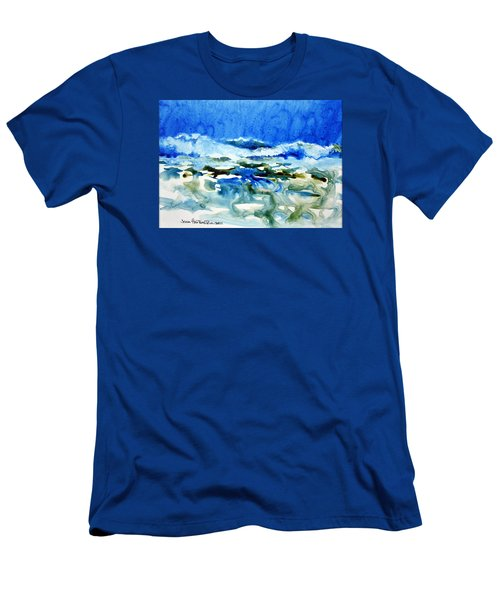 Blue Surf Men's T-Shirt (Athletic Fit)