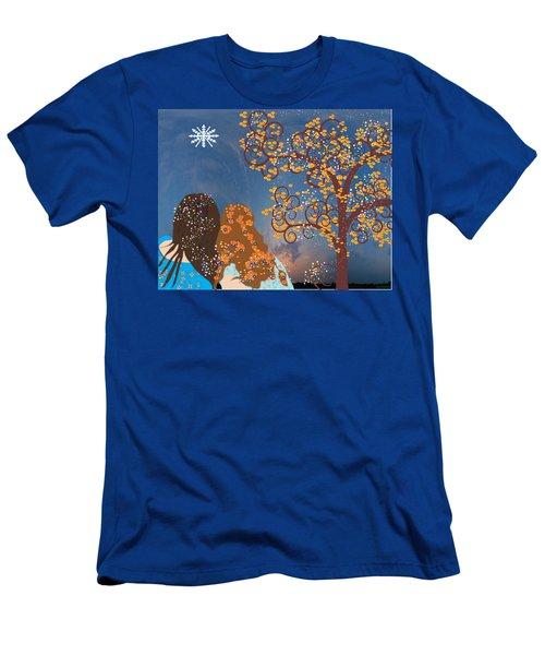 Blue Swirl Girls Men's T-Shirt (Athletic Fit)