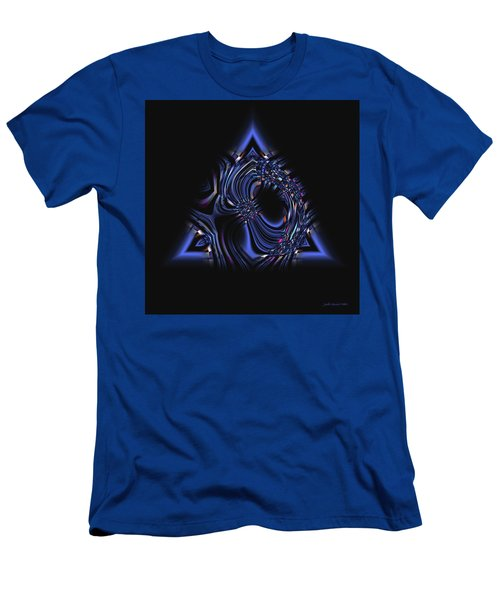 Blue Triangle Jewel Abstract Men's T-Shirt (Athletic Fit)