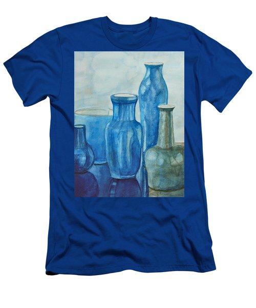 Blue Vases I Men's T-Shirt (Athletic Fit)