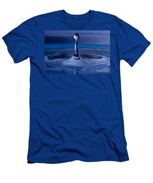 Blue Water Drop Men's T-Shirt (Athletic Fit)