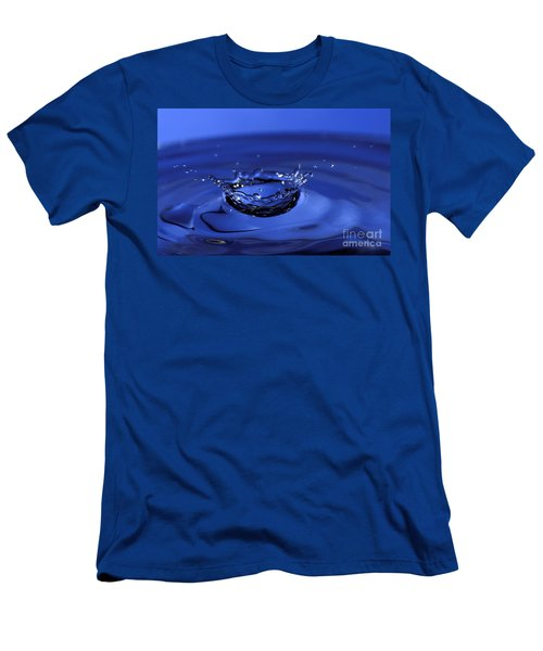 Blue Water Splash Men's T-Shirt (Athletic Fit)