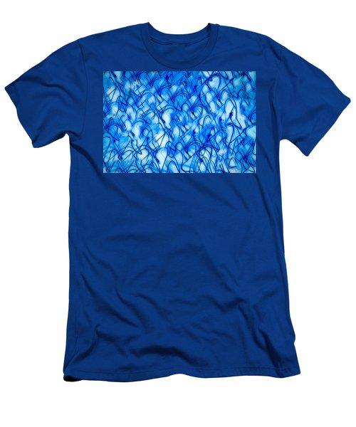 Blue Wispy Men's T-Shirt (Slim Fit) by Don Gradner
