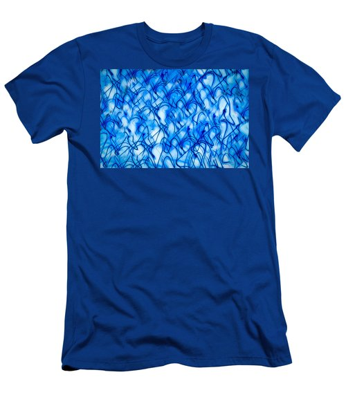 Blue Wispy Men's T-Shirt (Athletic Fit)
