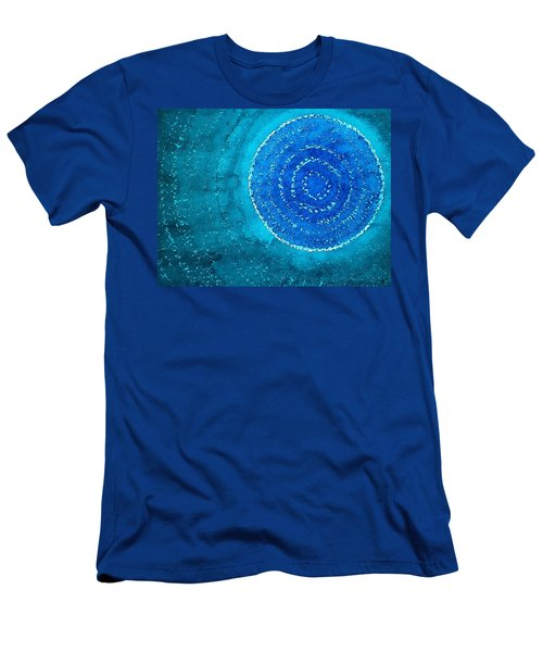 Blue World Original Painting Men's T-Shirt (Slim Fit) by Sol Luckman