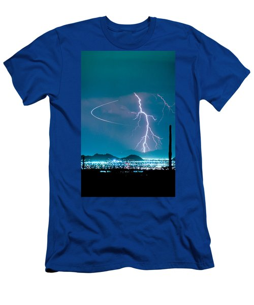 Bo Trek The Lightning Man Men's T-Shirt (Athletic Fit)