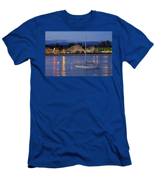 Boat At Twilight Men's T-Shirt (Athletic Fit)