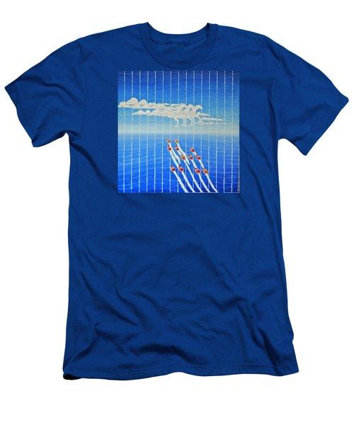 Boat Race Horse Clouds Men's T-Shirt (Athletic Fit)