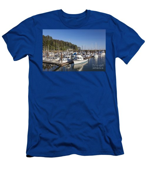 Boats Moored At Charleston Marina Men's T-Shirt (Athletic Fit)