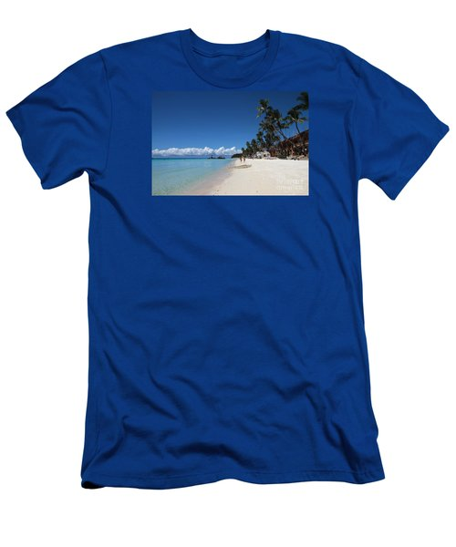 Men's T-Shirt (Slim Fit) featuring the photograph Boracay Beach by Joey Agbayani