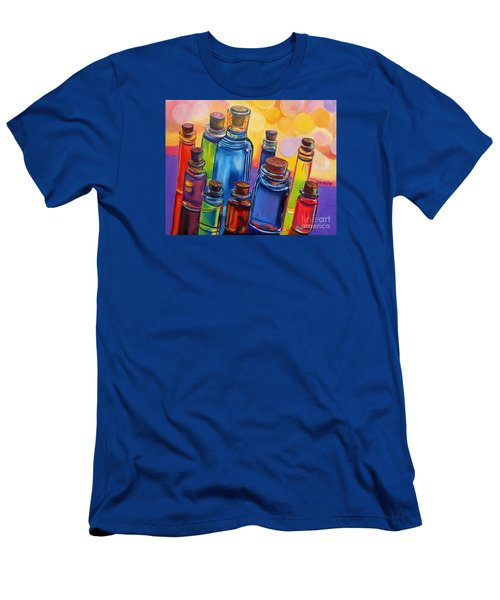 Bottled Rainbow Men's T-Shirt (Slim Fit) by Julie Brugh Riffey