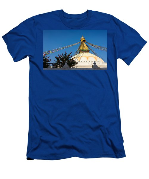 Boudhanath Stupa Men's T-Shirt (Athletic Fit)