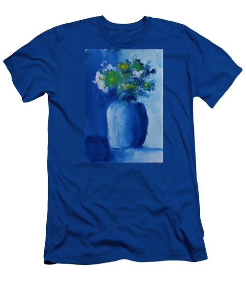 Bouquet In Blue Shadow Men's T-Shirt (Athletic Fit)