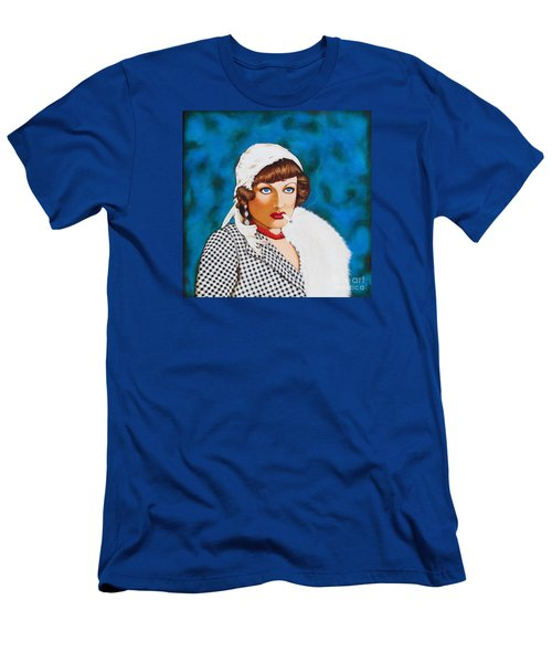 Men's T-Shirt (Slim Fit) featuring the painting Box Office Poison by Joseph Sonday