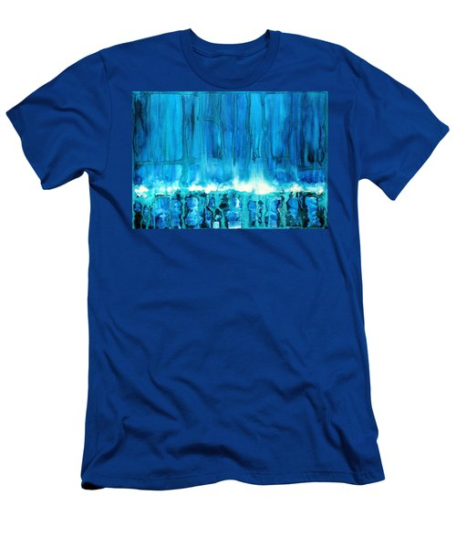 Breakers Off Point Reyes Original Painting Men's T-Shirt (Athletic Fit)