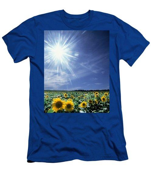 Bright Burst Of White Light Above Field Men's T-Shirt (Athletic Fit)