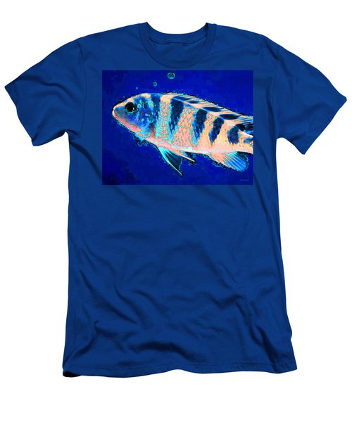 Bubbles - Fish Art By Sharon Cummings Men's T-Shirt (Athletic Fit)