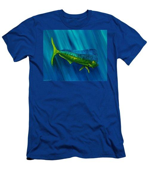 Bull Dolphin Men's T-Shirt (Slim Fit) by Steve Ozment