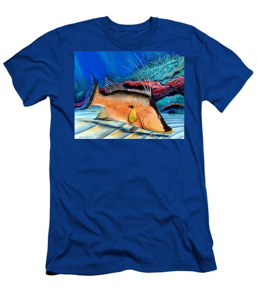 Bull Hogfish Men's T-Shirt (Slim Fit) by Steve Ozment