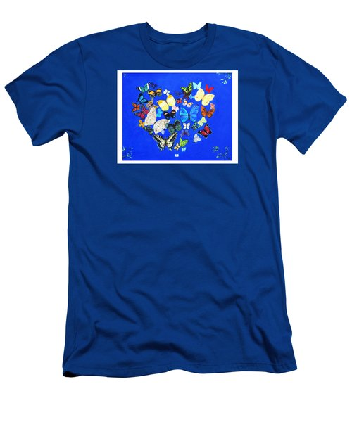 Butterfly Heart Men's T-Shirt (Slim Fit) by Anne Marie Brown