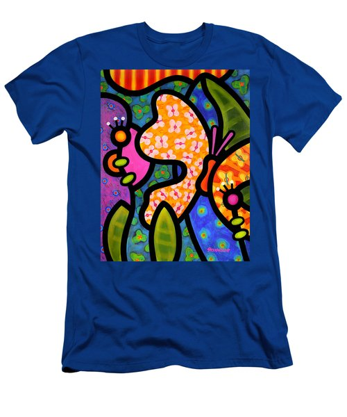 Butterfly Jungle Men's T-Shirt (Athletic Fit)