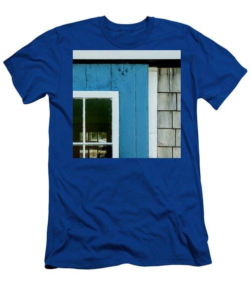 Old Door In Blue Men's T-Shirt (Athletic Fit)