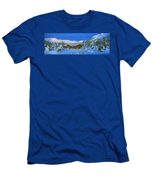 Cabin Mount Alyeska, Alaska, Usa Men's T-Shirt (Athletic Fit)