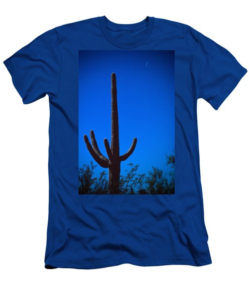 Cactus And Moon Men's T-Shirt (Athletic Fit)