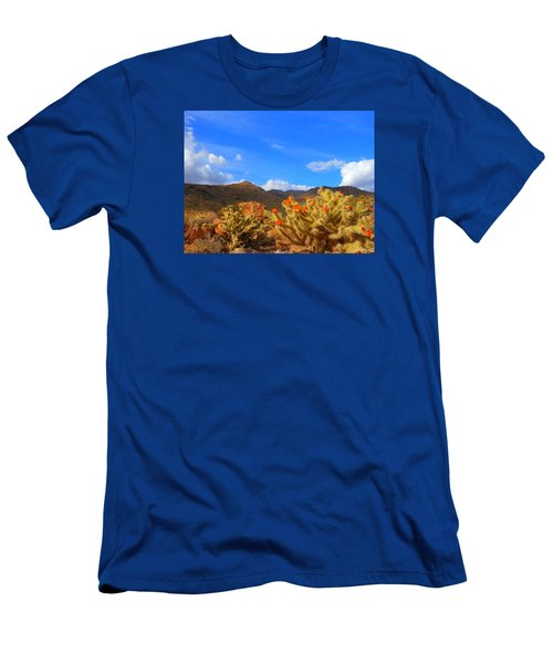 Cactus In Spring Men's T-Shirt (Athletic Fit)