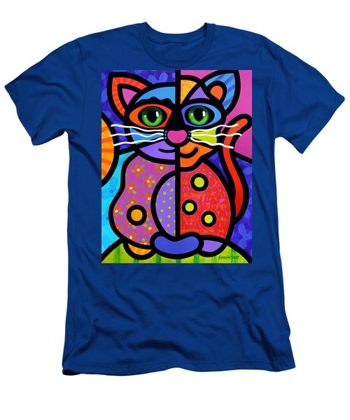 Calico Cat Men's T-Shirt (Athletic Fit)