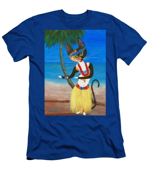 Calico Hula Queen Men's T-Shirt (Slim Fit) by Jamie Frier