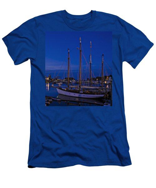 Camden Harbor Maine At 4am Men's T-Shirt (Athletic Fit)