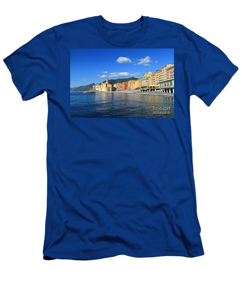 Men's T-Shirt (Slim Fit) featuring the photograph Camogli - Italy by Antonio Scarpi