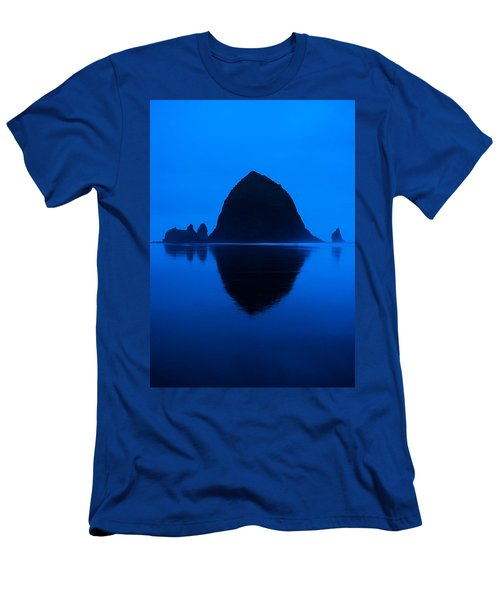 Cannon Beach Blue Men's T-Shirt (Athletic Fit)