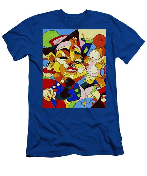 Cartoon Painting With Hidden Pictures Men's T-Shirt (Athletic Fit)