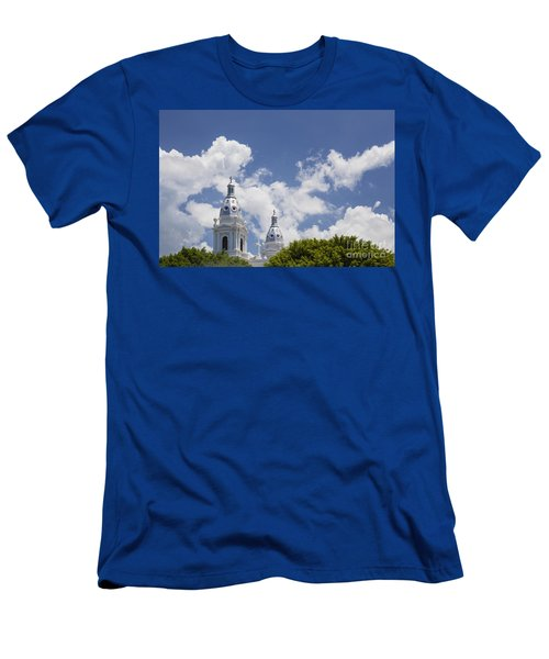 Men's T-Shirt (Athletic Fit) featuring the photograph Cathedral Nuestra Senora De Guadalupe In Ponce by Bryan Mullennix