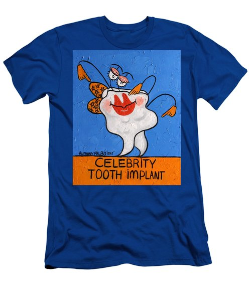 ed3cac30f Celebrity Tooth Implant Dental Art By Anthony Falbo Men's T-Shirt (Athletic  Fit)