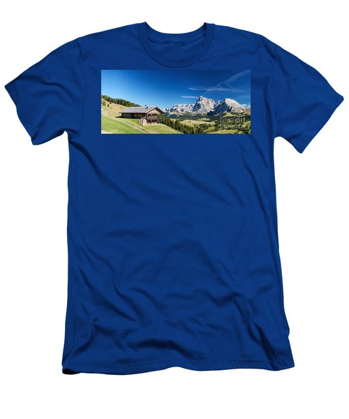 Men's T-Shirt (Slim Fit) featuring the photograph Chalet In South Tyrol by Carsten Reisinger