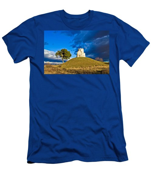 Chapel On Green Hill Nin Dalmatia Men's T-Shirt (Athletic Fit)