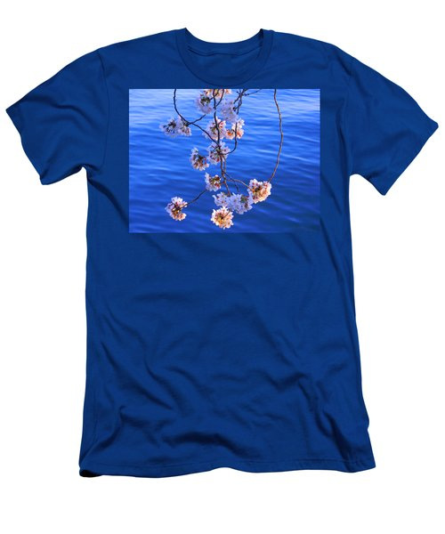 Cherry Blossoms Hanging Over Tidal Basin Men's T-Shirt (Athletic Fit)