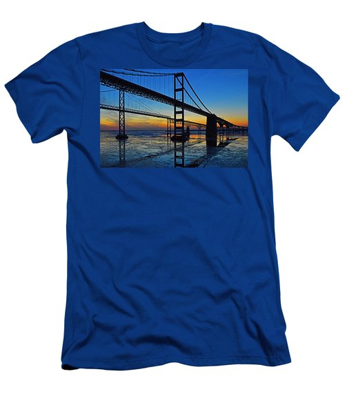 Chesapeake Bay Bridge Reflections Men's T-Shirt (Athletic Fit)