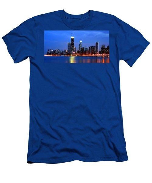 Chicago Dusk Skyline Hancock Men's T-Shirt (Athletic Fit)