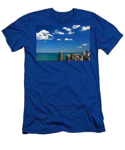 Chicago Skyline Big Sky Lake Men's T-Shirt (Athletic Fit)