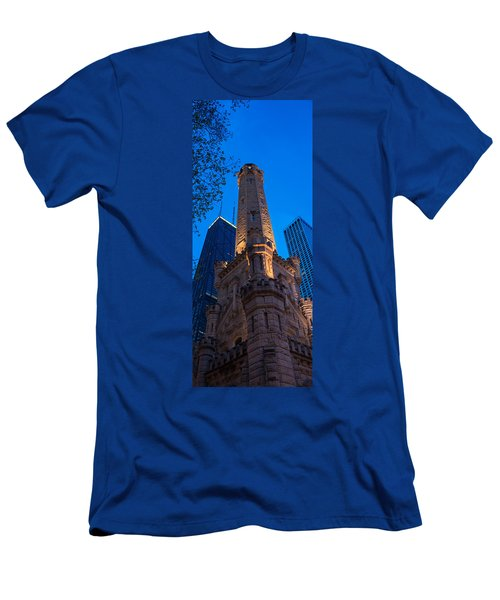 Chicago Water Tower Panorama Men's T-Shirt (Athletic Fit)