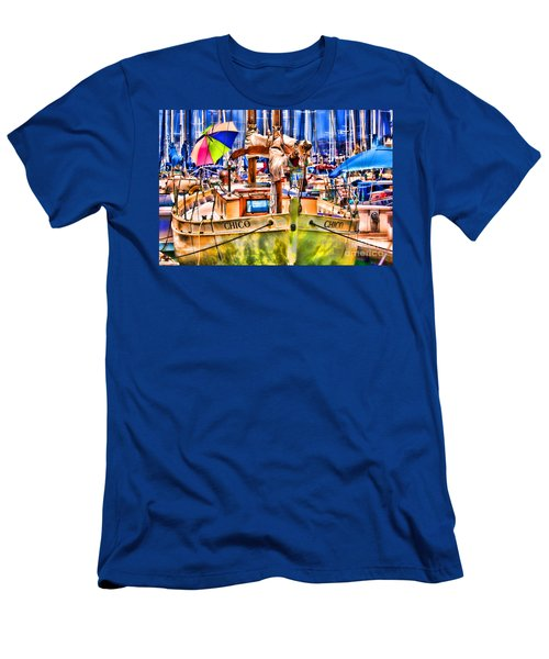 Chico Sail Boat By Diana Sainz Men's T-Shirt (Athletic Fit)