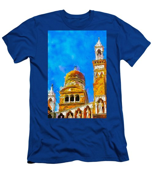 Men's T-Shirt (Slim Fit) featuring the painting Church Of Madonna Dell'orto by Greg Collins